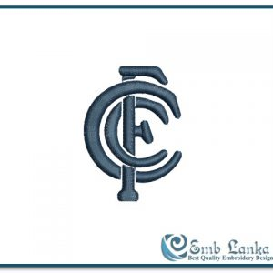 Carlton Football Club Logo Embroidery Design
