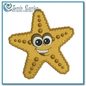 Angels Cartoon Starfish Embroidery Design Starfish