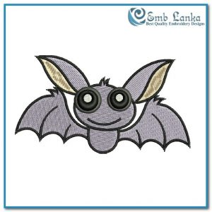 Cute Halloween Bat Embroidery Design Animals Bat