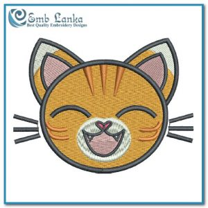 Free Cat Face Cartoon 2 Embroidery Design