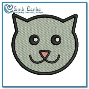 Animals Free Cat Face Cartoon Embroidery Design Cat