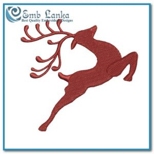 Animals Free Christmas Reindeer Embroidery Design Reindeer