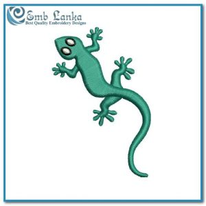 Free Gecko Embroidery Design