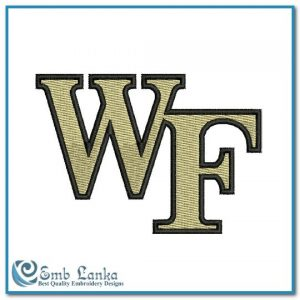 Wake Forest Demon Deacons Logo Embroidery Design Logos University