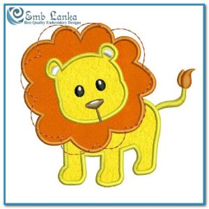 Animals Baby Lion Applique Free Embroidery Design [tag]