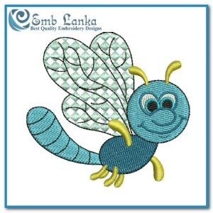 Blue Bug Embroidery Design Bugs [tag]
