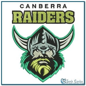Canberra Raiders Logo 2 Embroidery Design Logos