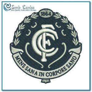 Carlton Football Club Logo 2 Embroidery Design Australian Football League AFL