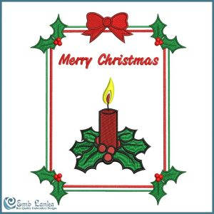 Christmas Greeting Card 2 Embroidery Design Christmas