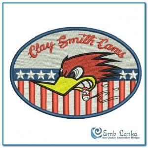 Clay Smith Cams Embroidery Design Cartoon