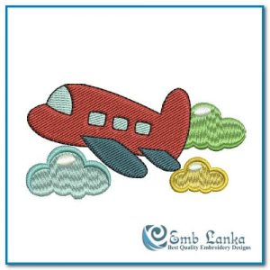 Cute Airplane Embroidery Design Cartoon