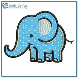 Cute Cartoon Elephant Applique Free Embroidery Design Animals