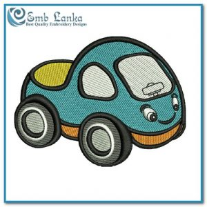 Cute Cartoon Race Car Embroidery Design Appliques Car