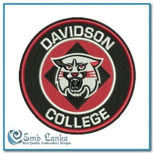 Davidson College Logo Embroidery Design