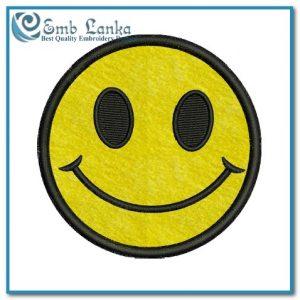 Free Happy Face Applique Embroidery Design Appliques