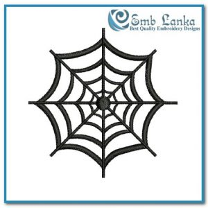 Bugs Free Spider Web 2 Embroidery Design [tag]