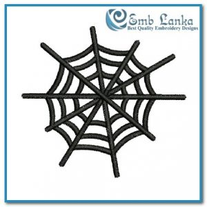 Bugs Free Spider Web Embroidery Design [tag]
