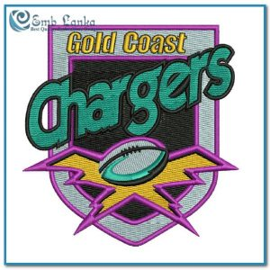 Gold Coast Chargers Rugby League Club Logo Embroidery Design Logos