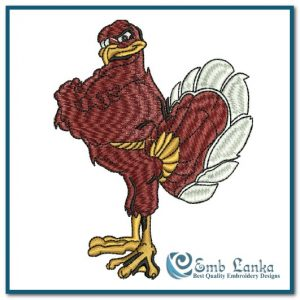Birds Hokie Bird  Embroidery Design [tag]