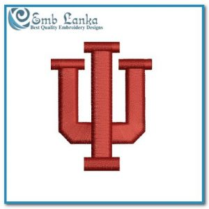 Indiana University Logo Embroidery Design Logos Indiana