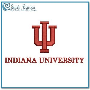 Indiana University Logo 2 Embroidery Design