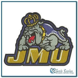 James Madison Dukes Logo Embroidery Design Logos