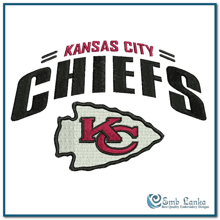 Kansas City Chiefs Logo 2 Embroidery Design Emblanka