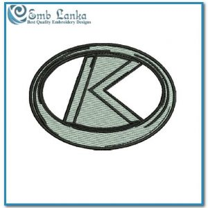 Kubota K Logo Embroidery Design
