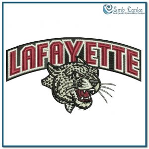 Logos Lafayette Leopards Logo Embroidery Design [tag]