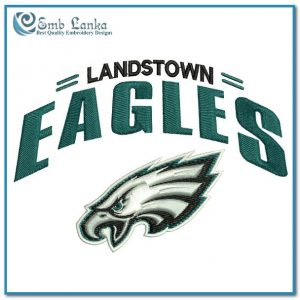 Landstown Eagles Logo Embroidery Design