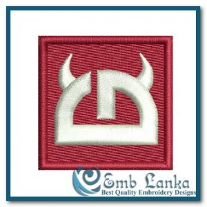 Little Devil Logo 6 Embroidery Design Cartoon