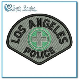 Los Angeles California Swat Police Logo Embroidery Design