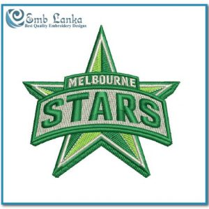 Logos Melbourne Stars Cricket Team Logo Embroidery Design Cricket