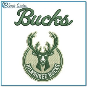 Logos Milwaukee Bucks Logo 2 Embroidery Design Milwaukee Bucks
