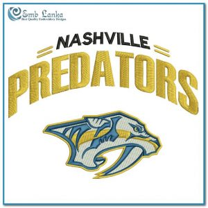 Nashville Predators New Logo Embroidery Design