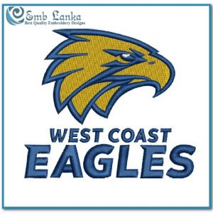 New West Coast Eagles Logo Embroidery Design Australian Football League AFL