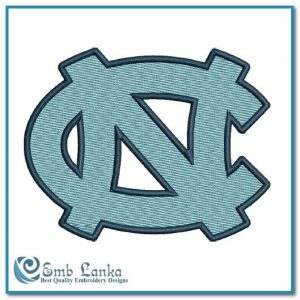 North Carolina Tar Heels Logo Embroidery Design