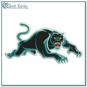 Penrith Panthers Logo 2 Embroidery Design