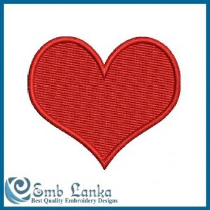 Free Red Heart Embroidery Design
