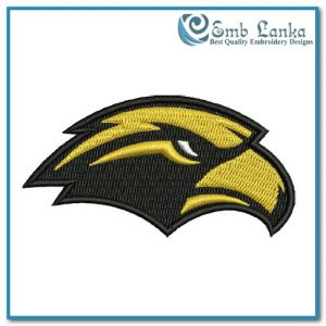 Southern Miss Golden Eagles Secondary Logo Embroidery Design Logos