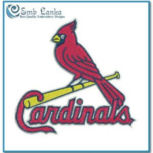 St Louis Cardinals Logo Embroidery Design