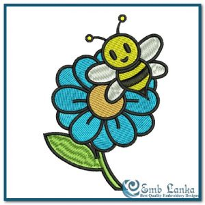 Animals Sunflower And Bee Embroidery Design [tag]