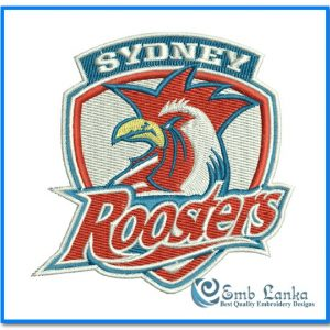 Sydney Roosters Logo Embroidery Design Logos