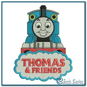Thomas and Friends Logo 2 Embroidery Design Cartoon