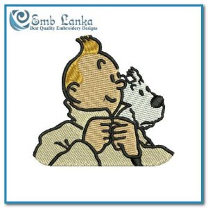 Tintin and Snowy Cartoon 2 Embroidery Design Cartoon