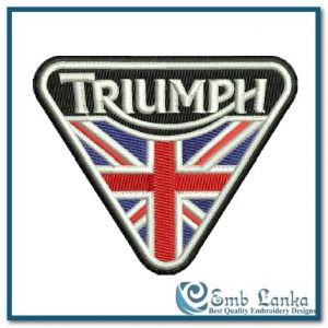 Triumph Logo with England Flag Embroidery Design Flags