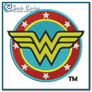 Wonder Woman Logo 3 Embroidery Design Cartoon