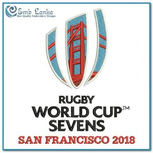World Cup Rugby 2018 San Francisco Logo Embroidery Design