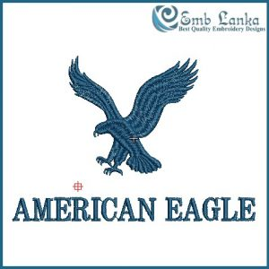 Birds American Eagle Logo Embroidery Design [tag]
