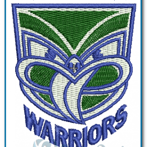 Auckland Warriors Rugby Logo Embroidery Design